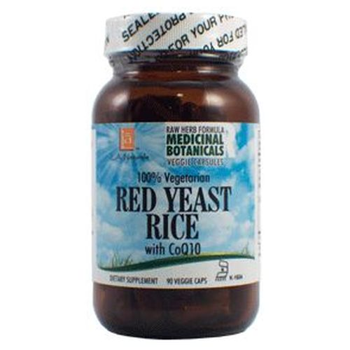 Red Yeast Rice Raw Formula 90 Veg Caps by L. A .Naturals