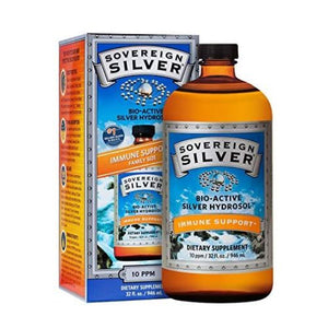 Bio-Active Silver Hydrosol 32 Oz by Sovereign Silver (4754054250581)
