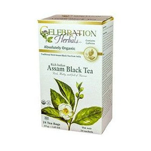 Organic Assam  Black Tea 24 Bags by Celebration Herbals (4754060968021)
