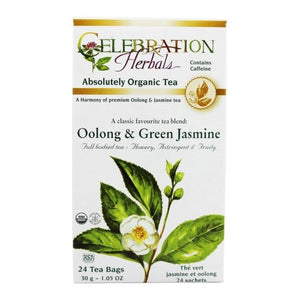 Green Tea Oolong & Jasmine 24 Bags by Celebration Herbals (4754061361237)