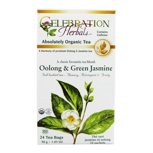 Green Tea Oolong & Jasmine 24 Bags by Celebration Herbals