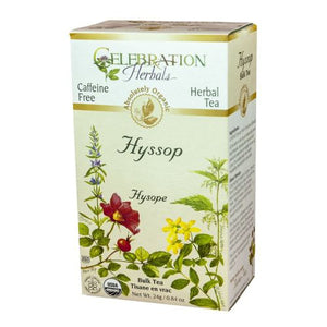 Organic Hyssop Tea 24 grams by Celebration Herbals (4754063130709)