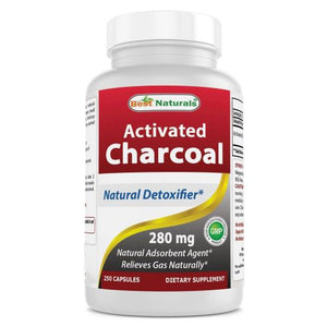 Activated Charcoal 250 Caps by Best Naturals (4754090098773)