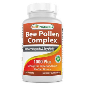 Bee Pollen Complex 120 Tabs by Best Naturals (4754090688597)
