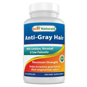 Anti Gray Hair 60 Caps by Best Naturals (4754092326997)