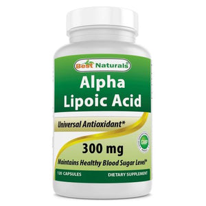 Alpha Lipoic Acid 120 Caps by Best Naturals (4754093146197)