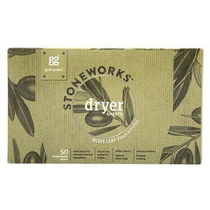 Stoneworks Dryer Sheets Olive Leaf 50 Count by Grab Green (4754099208277)