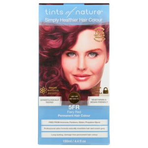 Permanent Hair Color 5FR Fiery Red 4.4 Oz by Tints of Nature (4754115362901)