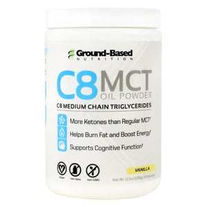 C8 Mct Oil Powder Vanilla 30 Servings by Ground-Based Nutrition