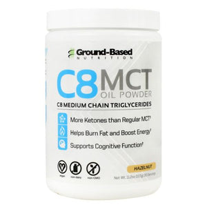 C8 Mct Oil Powder Hazelnut 30 Servings by Ground-Based Nutrition