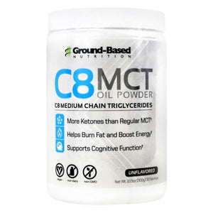 C8 Mct Oil Powder Unflavored 30 Servings by Ground-Based Nutrition