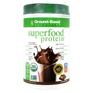 Superfood Protein Rich Chocolate 20 Servings by Ground-Based Nutrition