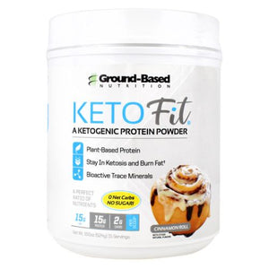 Keto Fit Protein Cinnaroll 15 Servings by Ground-Based Nutrition