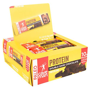 Protein Bar Dark Chocolate 12 Count by Caveman Foods