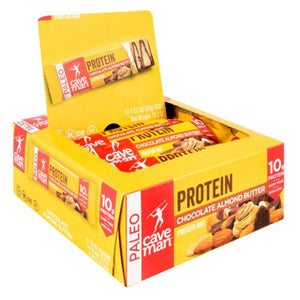 Protein Bar Chocolate Almond 12 Count by Caveman Foods