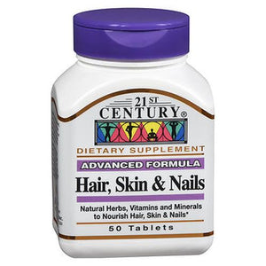 Hair - Skin and Nails 50 Tabs by 21st Century (4754138103893)