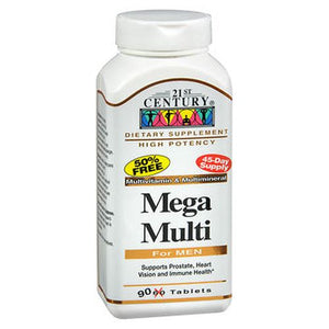 21st Century Mega Multi for Men 90 Tabs by 21st Century (4754138234965)