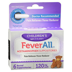 Feverall Children'S Acetaminophen Suppositories 6 Each by Feverall (4754154291285)