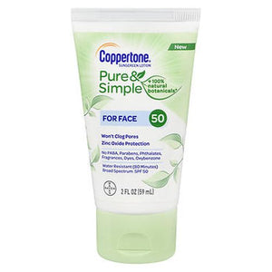 Coppertone Pure & Simple Sunscreen Lotion for Face SPF 50 2 Oz by Coppertone (4754156060757)