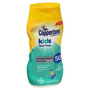 Coppertone Kids Tear Free Sunscreen Lotion SPF 50 6 Oz by Coppertone (4754156126293)
