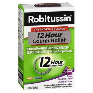 Robitussin 12 Hour Cough Relief Liquid Grape Flavored 3 Oz by Robitussin (4754159829077)