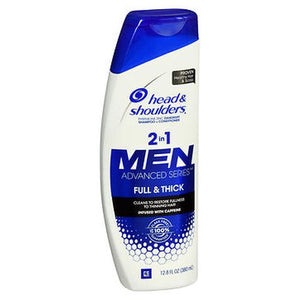 Head & Shoulders Men Advanced Series Full & Thick 2 In 1 Dandruff Shampoo + Conditioner 12.8 Each by Head & Shoulders (4754160779349)