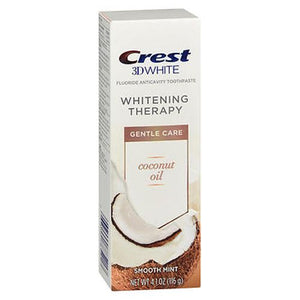 Crest 3D White Gentle Care Fluoride Anticavity Toothpaste Smooth Mint 4.1 Oz by Crest (4754161926229)