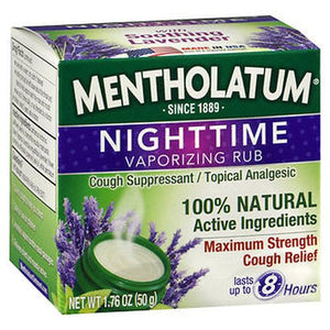 Mentholatum Nighttime Vaporizing Rub 1.76 Oz by Mentholatum (4754162843733)