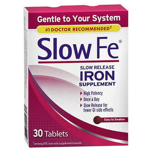 Slow Fe Slow Release Iron Supplement 30 Tabs by Slow Fe (4754167038037)