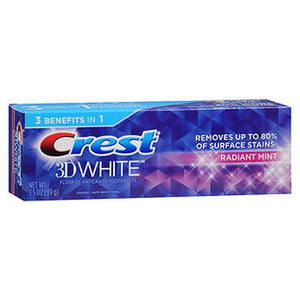 Crest 3D White Fluoride Anticavity Toothpaste Radiant Mint 3.5 Oz by Crest (4754167267413)