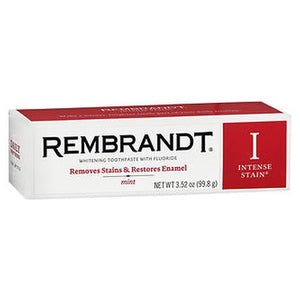 Rembrandt Intense Stain Whitening Toothpaste with Fluoride Mint 3.52 Oz by Rembrandt (4754169954389)