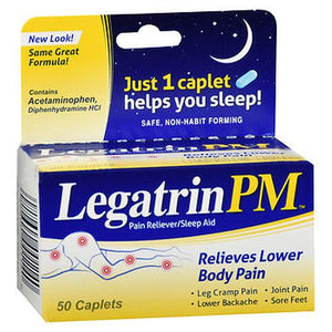 Legatrin PM Pain Reliever-Sleep Aid Caplets 50 Caplets by Arm & Hammer (4754170314837)