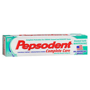 Pepsodent Complete Care Enamel-Safe Whitening Anticavity Fluoride Toothpaste Smooth Mint Flavor 5.5 Oz by Pepsodent (4754174148693)