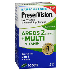 Bausch + Lomb PreserVision Eye Vitamin & Mineral Supplement Softgels 100 Tabs by Bausch And Lomb (4754183520341)