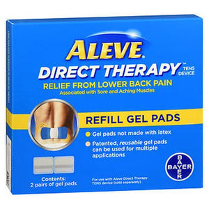 Aleve Direct Therapy Tens Device Refill Gel Pads 4 Each by Bayer (4754184601685)