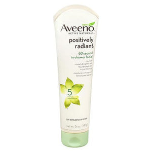 Aveeno Active Naturals Positively Radiant 60 Second In-Shower Facial Cleanser 5 Oz by Aveeno (4754200363093)