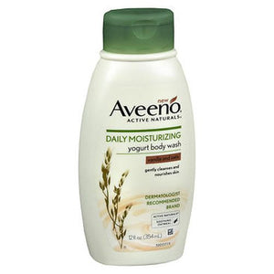 Aveeno Active Naturals Daily Moisturizing Yogurt Body Wash Vanilla And Oats 12 Oz by Aveeno (4754202001493)