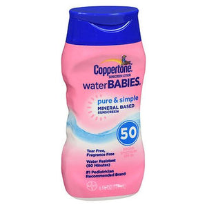 Coppertone Water Babies Pure & Simple Sunscreen Lotion SPF 50 6 Oz by Coppertone (4754204590165)