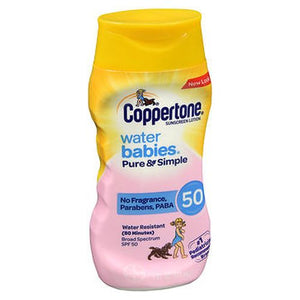 Coppertone Water Babies Pure & Simple Sunscreen Lotion SPF 50 6 Oz by Coppertone (4754204721237)