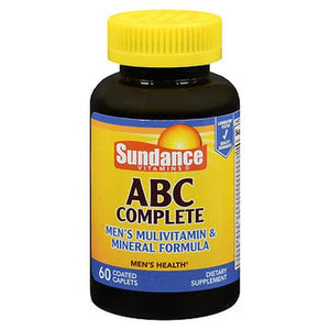 Sundance ABC Complete Men'S Multivitamin & Mineral Formula Coated Caplets 60 Tabs by Sundance (4754216484949)