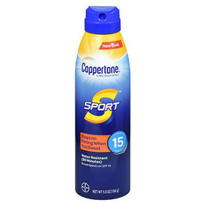 Coppertone Sport Continuous Spray Sunscreen SPF 15 5.5 Oz by Coppertone (4754222448725)