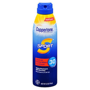 Coppertone Sport Continuous Spray Sunscreen SPF 30 5.5 Oz by Coppertone (4754222481493)