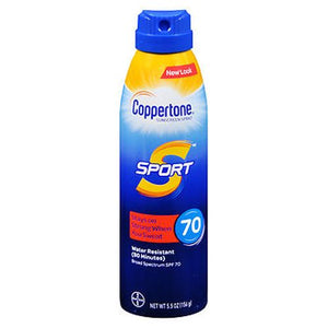 Coppertone Sport Continuous Spray Sunscreen SPF 70 5.5 Oz by Coppertone (4754222547029)