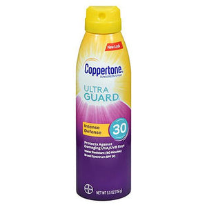 Coppertone UltraGuard Intense Defense Continuous Spray Sunscreen SPF 30 5.5 Oz by Coppertone (4754222579797)