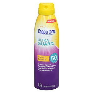 Coppertone UltraGuard Intense Defense Sunscreen Spray SPF 50 5.5 Oz by Coppertone (4754222612565)