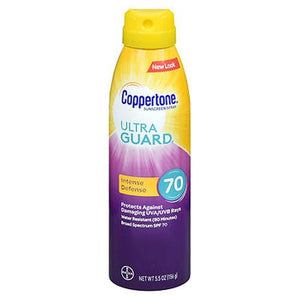 Coppertone UltraGuard Intense Defense Continuous Spray Sunscreen SPF 70 5.5 Oz by Coppertone (4754222645333)