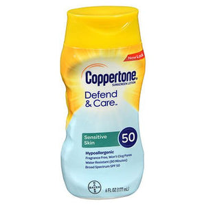 Coppertone Defend & Care Sensitive Skin Sunscreen Lotion SPF 50 6 Oz by Coppertone (4754222743637)