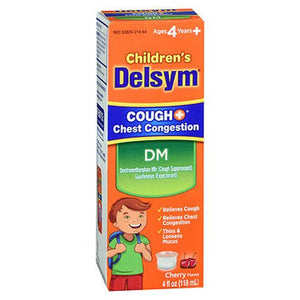 Delsym Children'S Cough + Chest Congestion Dm Liquid Cherry Flavor 4 Oz by Delsym (4754224840789)