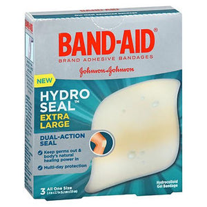 Band-Aid Hydro Seal Hydrocolloid Gel Bandages Extra Large 3 Each by Band-Aid (4754225365077)