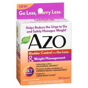 Bladder Control with Go-Less & Weight Management 48 Caps by Azo (4754228609109)